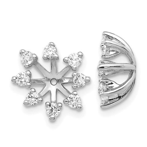 Lex & Lu 14k White Gold AA Diamond Earring Jackets LAL805-Lex & Lu