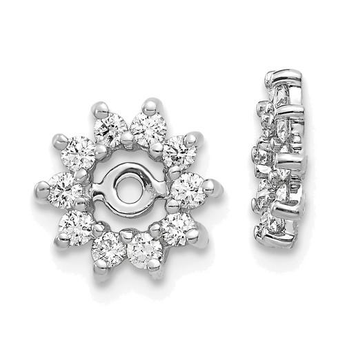 Lex & Lu 14k White Gold AA Diamond Earring Jackets LAL843-Lex & Lu