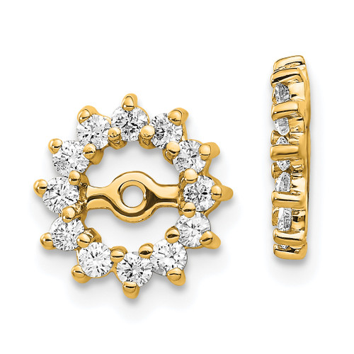 Lex & Lu 14k Yellow Gold AA Diamond Earring Jackets LAL846-Lex & Lu