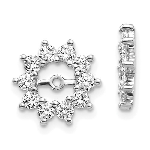 Lex & Lu 14k White Gold AA Diamond Earring Jackets LAL847-Lex & Lu