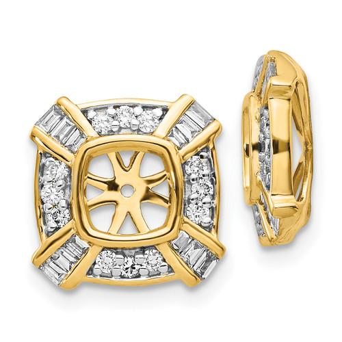 Lex & Lu 14k Yellow Gold Diamond Earring Jackets LAL865-Lex & Lu