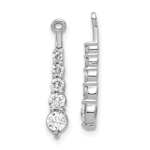 Lex & Lu 14k White Gold AA Diamond Earring Jackets LAL875-Lex & Lu