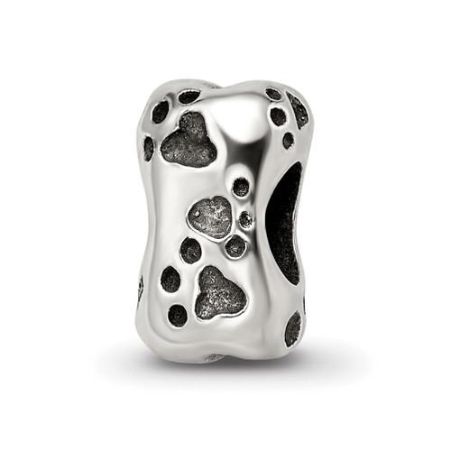 Lex & Lu Sterling Silver Reflections Dog Bone Bead - Lex & Lu
