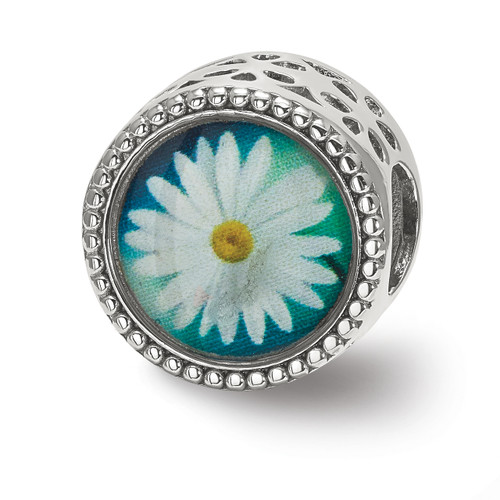 Lex & Lu Sterling Silver Reflections April Flower Bead-Lex & Lu