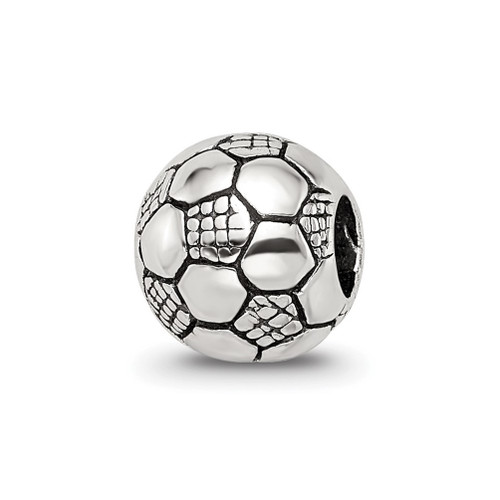 Lex & Lu Sterling Silver Reflections Kids Soccer Ball Bead - Lex & Lu