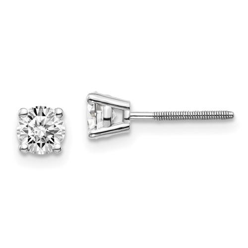Lex & Lu 14k White Gold .70ct VS2/SI1 G-I Diamond Stud Thread on/off Post Earrings-Lex & Lu
