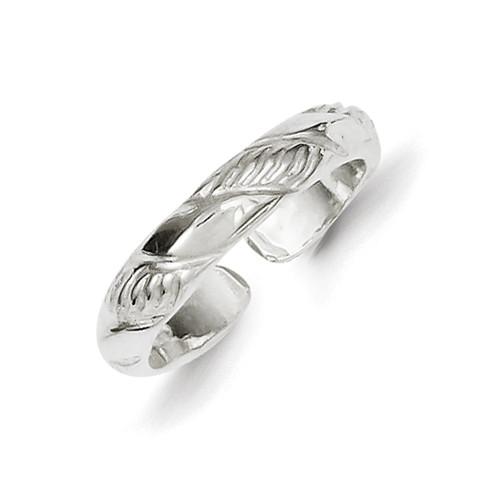 Lex & Lu Sterling Silver Toe Ring LAL23064-Lex & Lu