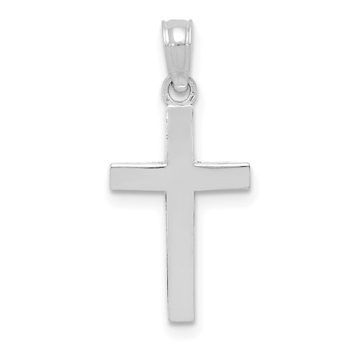 Lex & Lu 10k White Gold Polished Cross Pendant LAL10C3785W-Lex & Lu