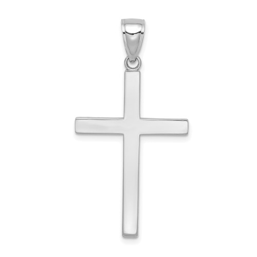 Lex & Lu 10k White Gold Polished Cross Pendant LAL10C4205W-Lex & Lu