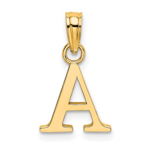 Lex & Lu 14k Yellow Gold Polished Letter A Initial Pendant-Lex & Lu