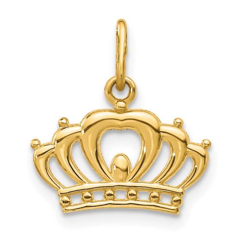 Lex & Lu 14k Yellow Gold Crown Charm-Lex & Lu