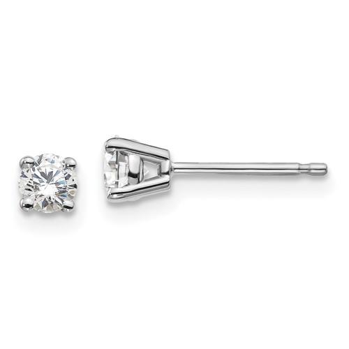 Lex & Lu 14k White Gold 1/3ctw SI1/SI2, G H I, Lab Grown Diamond 4-Prg Earrings LAL260 - Lex & Lu