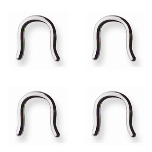 Lex & Lu 4 Pack of Steel Septum Retainer 10 Gauge (2.5mm) U-Shaped-Lex & Lu