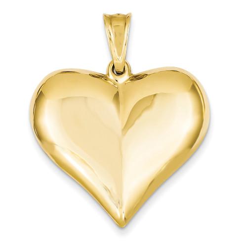 Lex & Lu 14k Yellow Gold Puffed Heart Pendant LAL73905-Lex & Lu