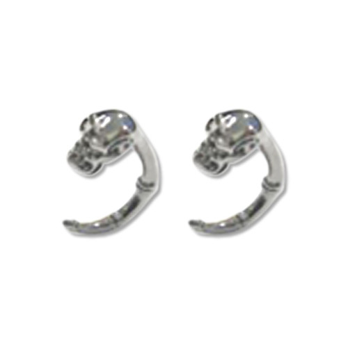 Lex & Lu Pair of Cast Steel Expander Plug Talon 8 Thru 2G Earrings-110-Lex & Lu