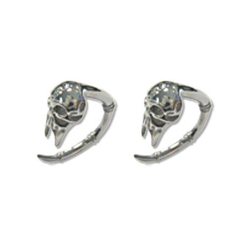 Lex & Lu Pair of Cast Steel Taper Expander Plug Talon 8-4G Earrings-117-Lex & Lu