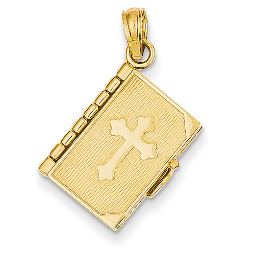 Lex & Lu 14k Yellow Gold Lords Prayer Bible Pendant-Lex & Lu