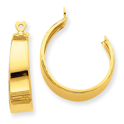 Lex & Lu 14k Yellow Gold Polished Hoop Earrings Jackets LAL76007-Lex & Lu