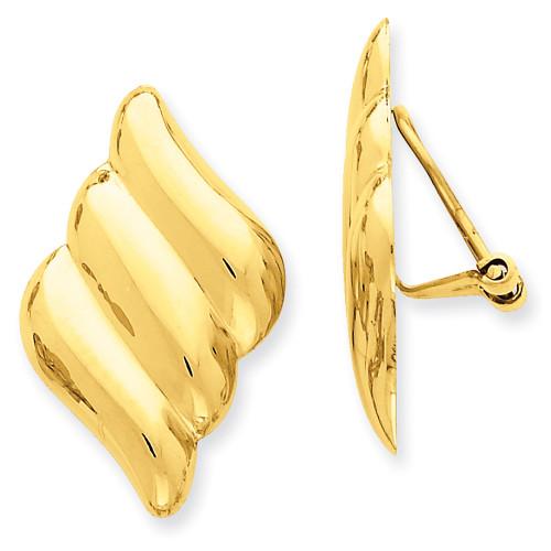 Lex & Lu 14k Yellow Gold Non-pierced Fancy Earrings LAL76812-Lex & Lu