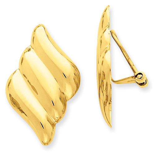 Lex & Lu 14k Yellow Gold Non-pierced Fancy Earrings LAL76812-Lex & Lu