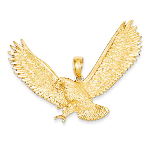 Lex & Lu 14k Yellow Gold Eagle Pendant LAL78089-Lex & Lu