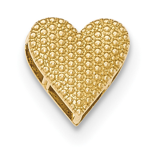 Lex & Lu 14k Yellow Gold Polished Reversible Cut-out Heart Chain Slide-Lex & Lu