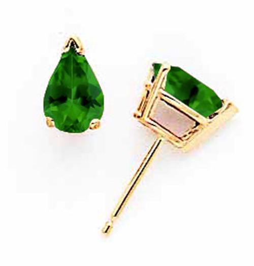 Lex & Lu 14k Yellow Gold Green Tourmaline Earrings-Lex & Lu