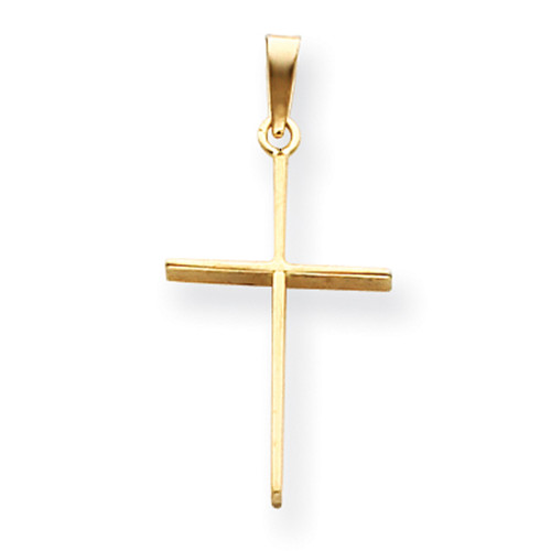 Lex & Lu 14k Yellow Gold Cross Pendant LAL89076-Lex & Lu