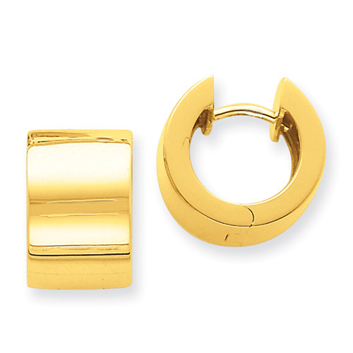 Lex & Lu 14k Yellow Gold Hinged Earrings-Lex & Lu