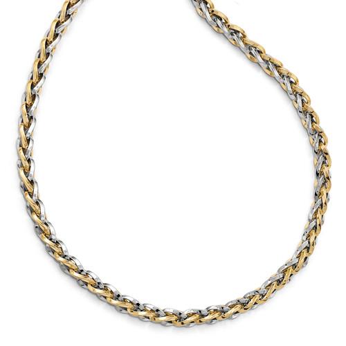 Lex & Lu Leslie's 14k Two-tone Gold Fancy Link Necklace or Bracelet LAL92753 - Lex & Lu