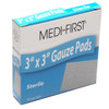 """3"""" x 3"""" Sterile Gauze Pads (100 count)"""