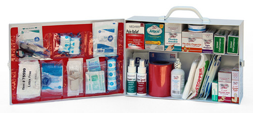 2 Shelf First Aid Cabinet, Filled