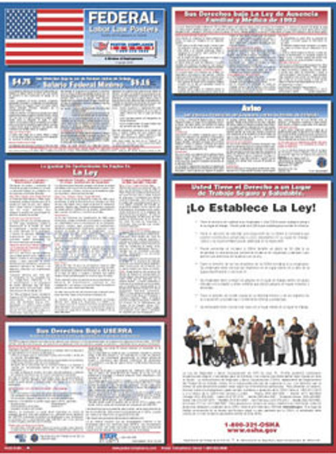 Federal Labor Law Poster (Spanish) - Set of 4
