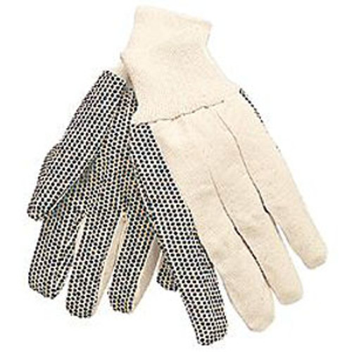 Cotton Canvas Gloves with Dots- 1 dozen