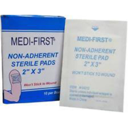 """2"""" x 3"""" Non-Adherent Sterile Pads (10 count)"""