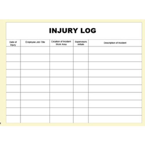 Injury Log Books