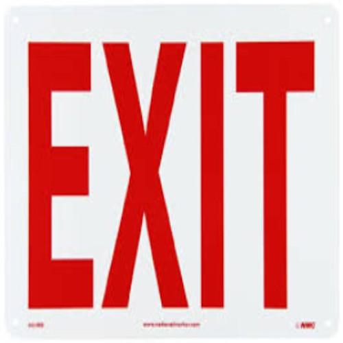 Exit Sign   Rigid Plastic, 7x10
