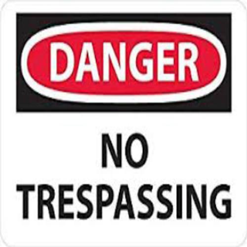 Danger No Trespassing | Rigid Plastic, 10x14