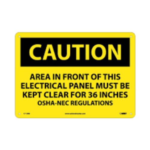 Caution Area In Front Of This... | Rigid Plastic, 10x14