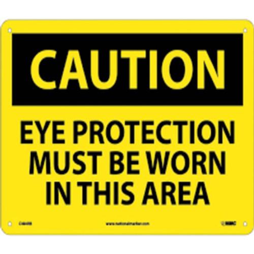 Caution Eye Protection Must Be Worn | Rigid Plastic, 10x14