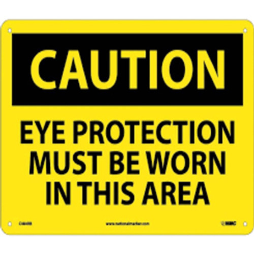 Caution Eye Protection Must Be Worn | Rigid Plastic, 10x14