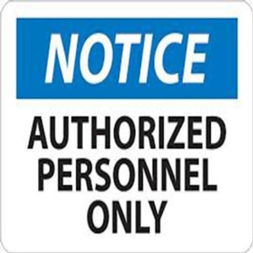 Notice All Visitors Must Register...   Rigid Plastic, 10x14