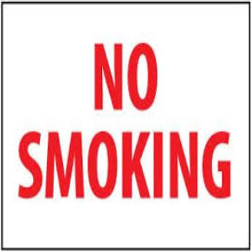 No Smoking Sign   Rigid Plastic, 10x14