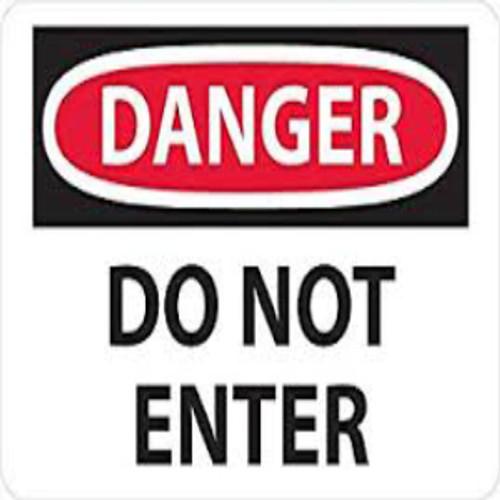Danger Do Not Enter | Rigid Plastic, 10x14