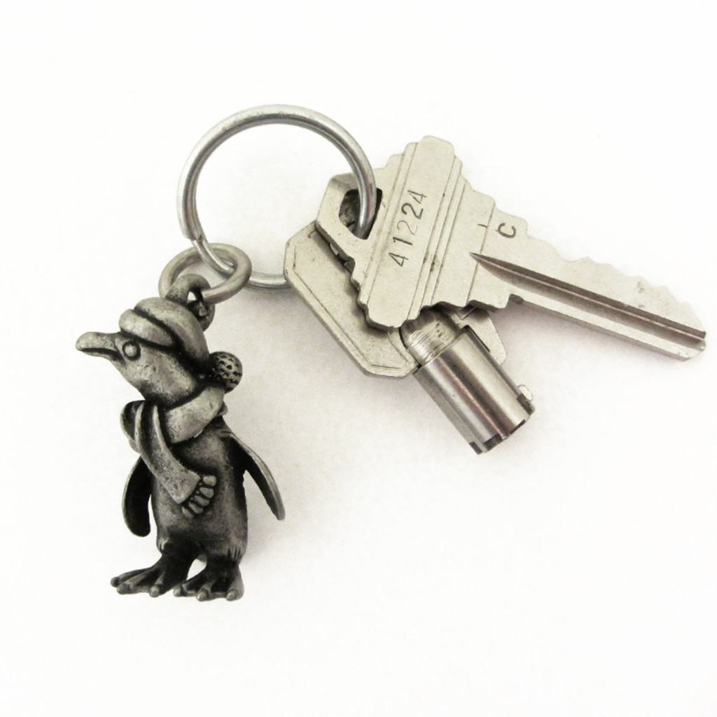Holiday Penguin Keychain