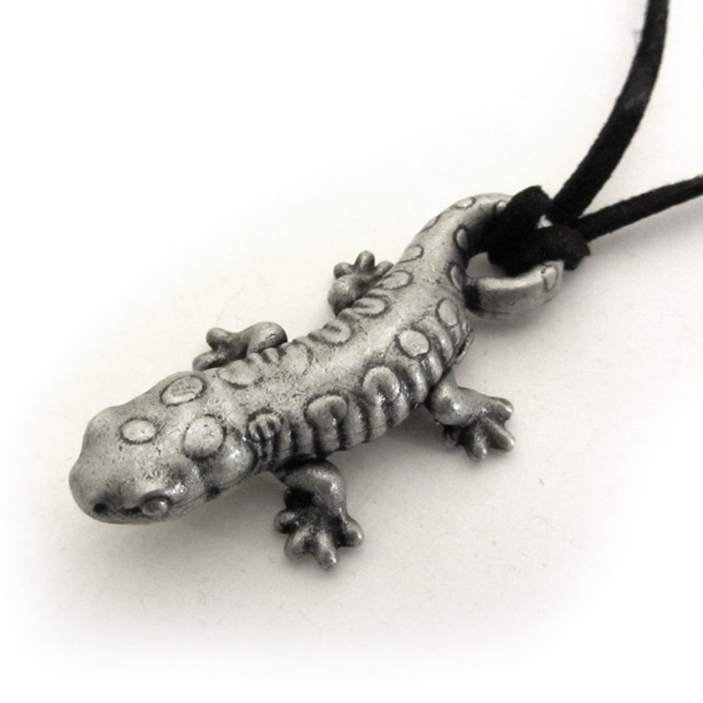 spotted salamander necklace
