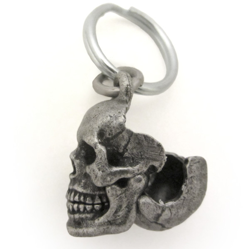 Human Skull Locket with cranium open