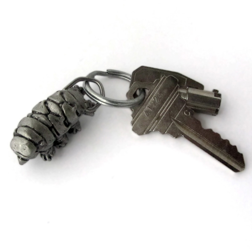 Tardigrade Locket Keychain with keys