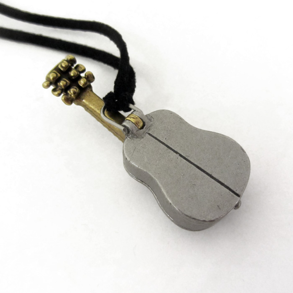 Acoustic Guitar Locket back view