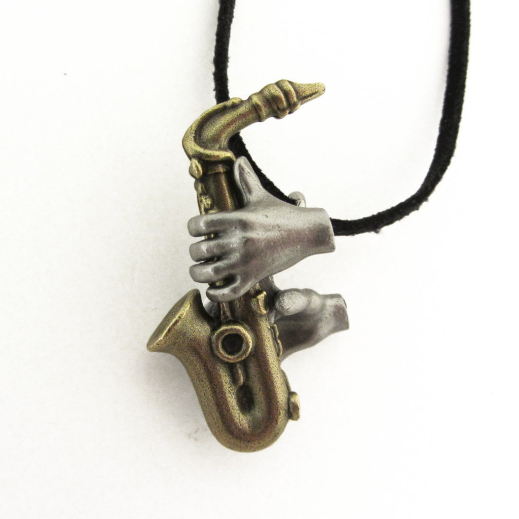 Saxophone Pendant (antiqued option)